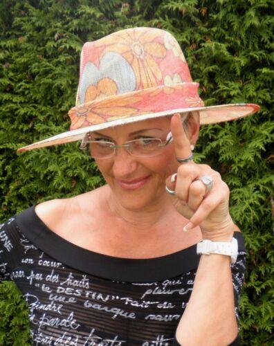 Damen Hut schicker Sommerhut floral Strohhüte Anlasshüte Damenhüte Urlaubshut