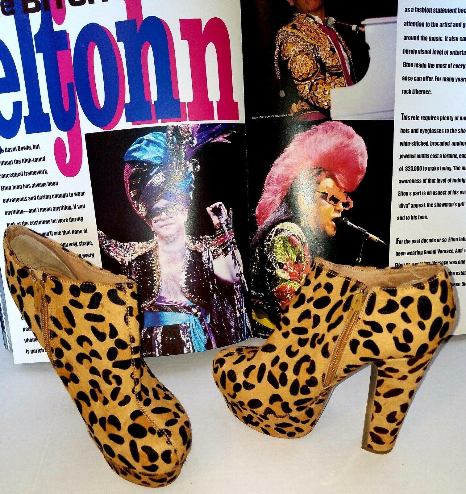 articoli promozionali Zigi Pony hair leppard Print Ankle stivali Dimensione 8 Worn Worn Worn Once  garanzia di credito