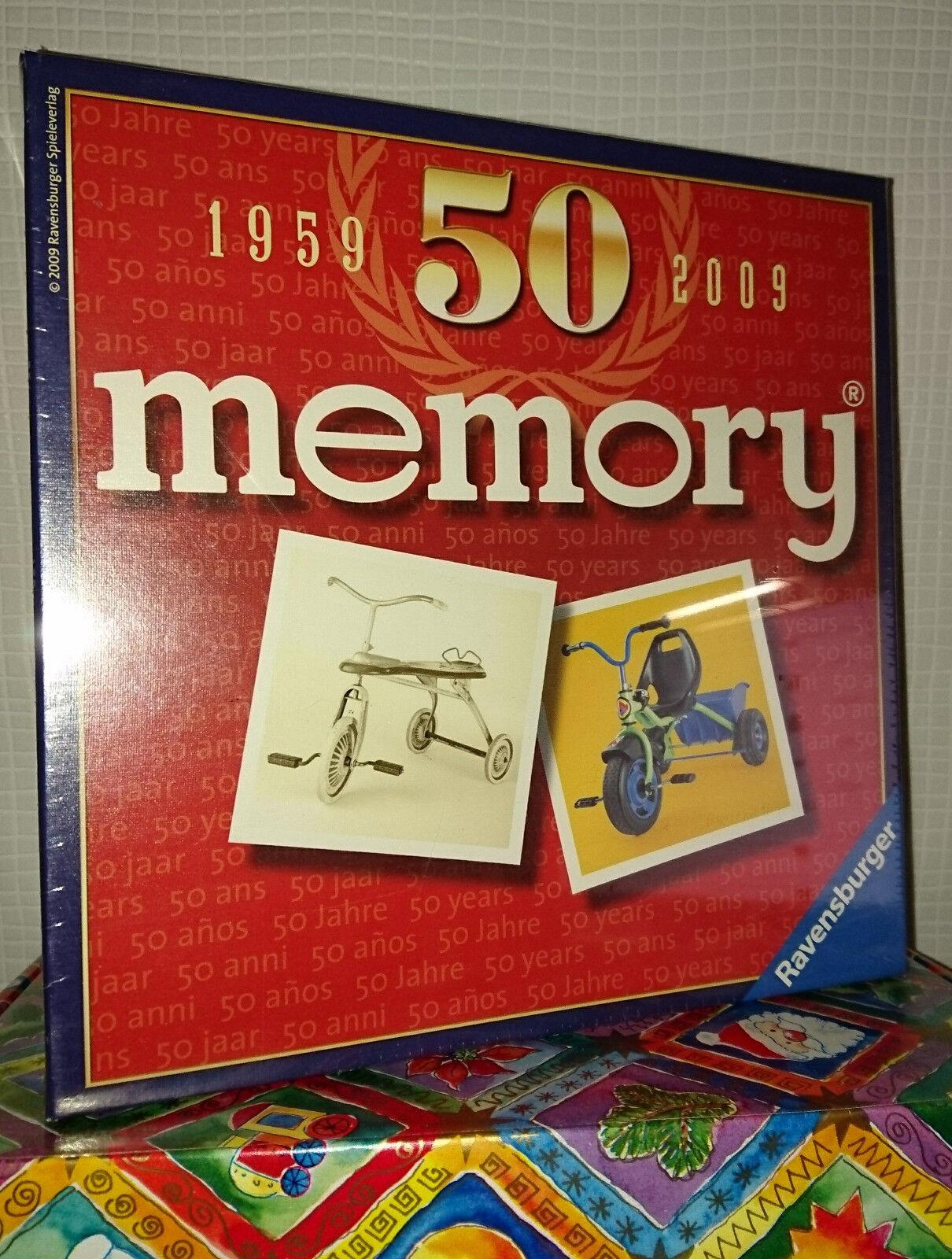 50 anni Memory  1959 - 2009 mitiche anniversario-edizione    RAVENSBURGER  NUOVO    e32c28