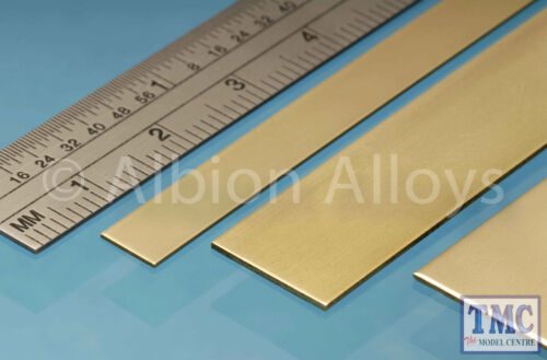 BS1M Albion Alloys Brass Strip 6 x 0.4 mm 5 Pack