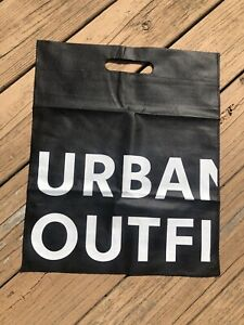 New-Urban-Outfitters-Reusable-Shopping-Bag-Tote-Black-White-W-Handle-14-5W-18L