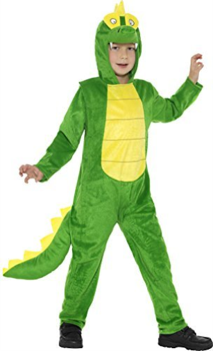 Deluxe Crocodile Costume, Green, with Hooded Jumpsuit & (US IMPORT) COST-UNI NEW