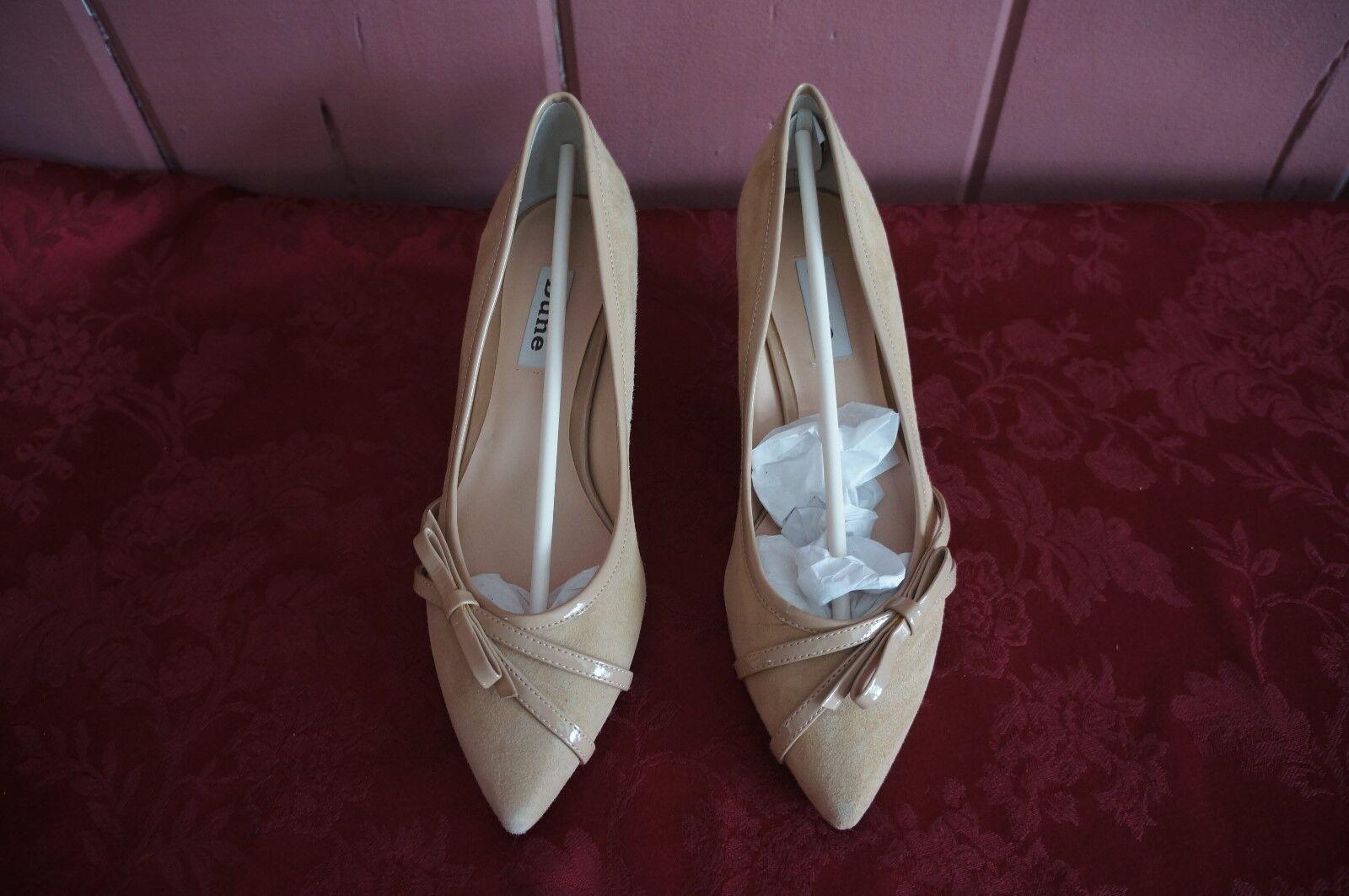 NWB: WOMEN'S Schuhe: SUNDAE-SKINNY BOW KITTEN HEEL BY DUNE  SIZE: 8 M