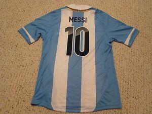 6870532088f NWT Adidas 2011 Copa America Argentina  10 Leo Messi Home Jersey Men ...