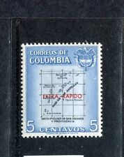 Colombia C289, MNH, Map overprinted 1957. x23601
