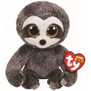 "2018 Ty Beanie Boos 6"" DANGLER the Sloth Stuffed Animal Plush w/ Ty Heart Tags"