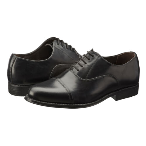 Mens Oxford Leather Shoes Black Smart Formal Casual Lace Up UK Sizes 5-13 NEW