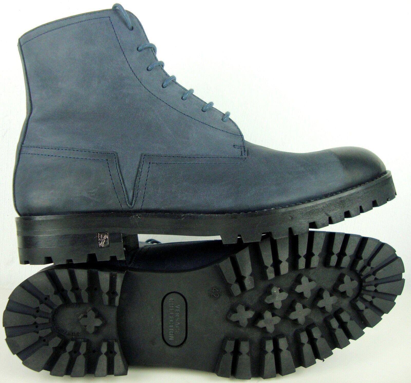 VERSACE Herren Stiefelette Designer Stiefel Schnürstiefelette Schuhe Gr.42 NEU NEU NEU 06dd2f