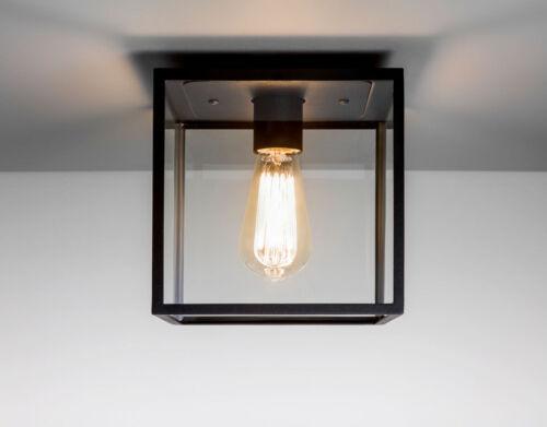 NO Bulb Astro BOX IP23 Outdoor esterno soffitto luce 60W E27 NERO