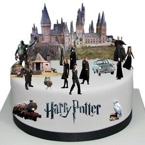 Harry-Potter-Essbar-Tortenbild-Tortenaufleger-NEU-Party-Deko-Muffinaufleger-dvd