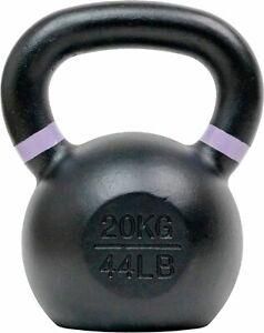 Tru Grit - 44-lb Cast Iron Kettlebell - Black