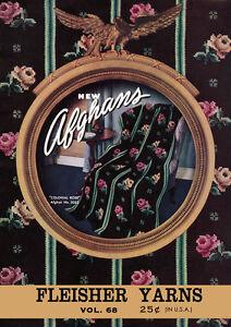 Fleisher/'s #68 c.1941 Vintage Pattern Book of  Warm Afghans WWII Era