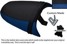ROYAL BLUE & BLACK CUSTOM FITS TRIUMPH SPEED TRIPLE 97-01 955 i REAR SEAT COVER