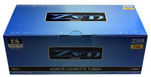 40-Forty-Boxes-of-Zen-Blue-Light-100mm-Cigarette-Tubes-250ct-Carton-RYO-MYO