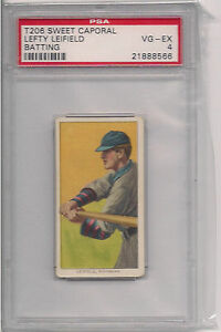 1909 t206 lefty leifield psa 4 sweet caporal 350 460 sub fact 42