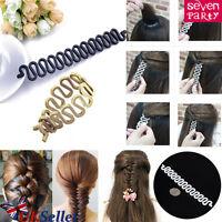 UK French Hair Braid Tool Magic Bun Maker Holder Clip Roller Hook Twist Styling