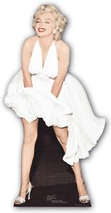 In Star Vip Pappaufsteller Standy Trendmarkierung Marilyn Monroe Stil; 157 Cm Modischer Weißes Kleid
