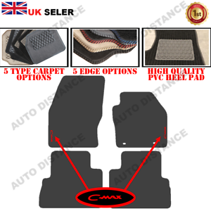 Tailored-Carpet-Car-Mats-With-Heel-Pad-FOR-Ford-C-Max-FRC-WITH-LOGO-2015