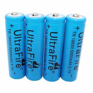 4X-18650-Battery-MAH-5000mAh-3-7V-Li-ion-Rechargeable-for-Flashlight-LED-Torch