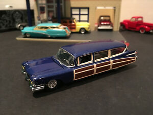 Details about 1:64 Hot Wheels LE 1959 59 Cadillac Eldorado Hearse Woodie  Surf Wagon Blue