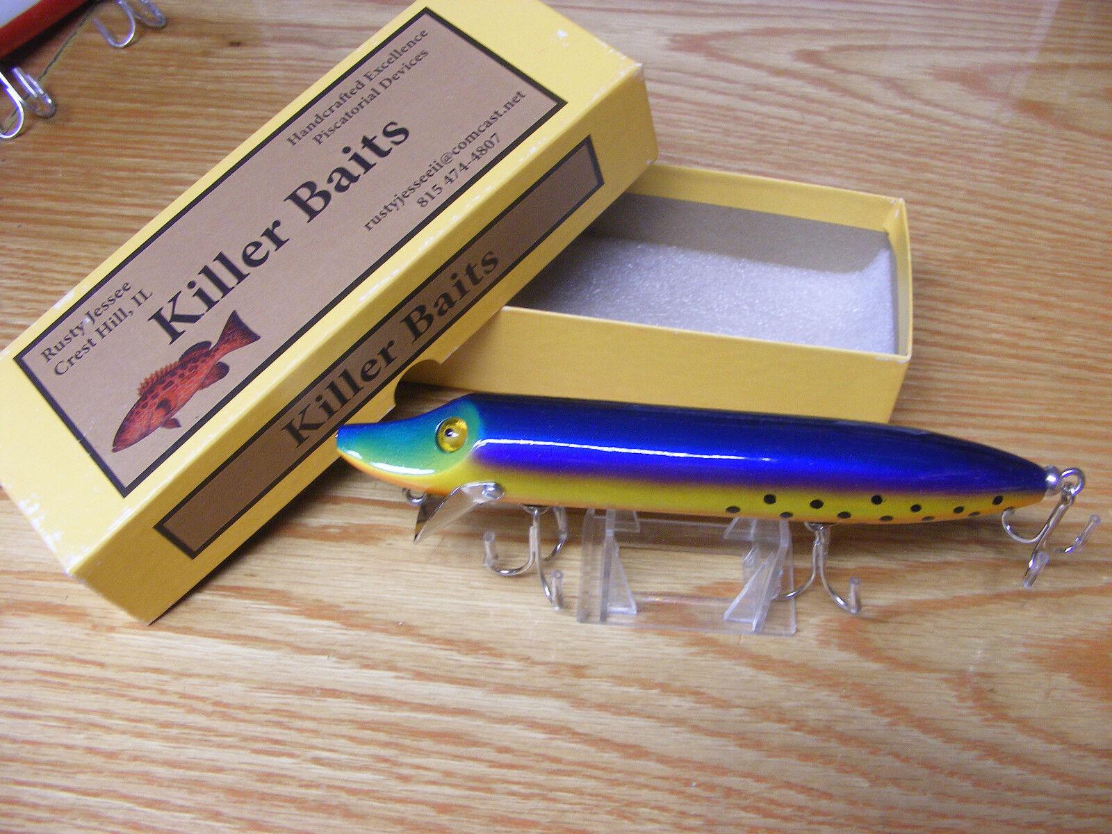 Killer Baits  Rusty Jesse Heddon Style 8 Musky Glasseye Vamp Neon Tropical Berry  outlet online