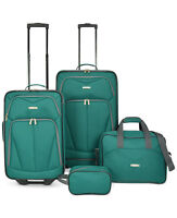 Travel Select Kingsway 4-Piece Luggage Set (Green / Navy)