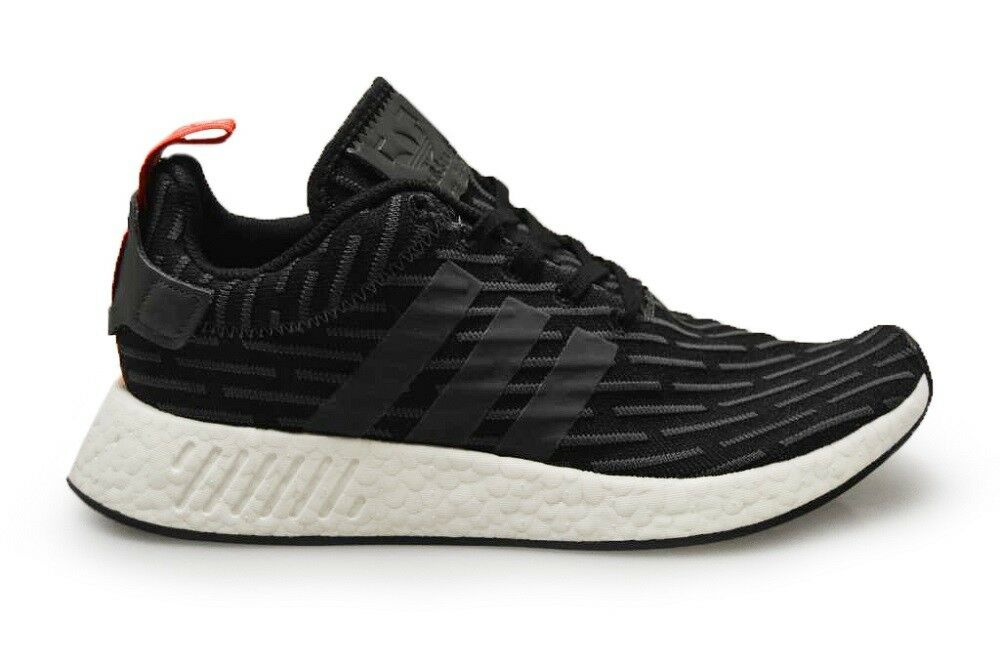 Mens NMD_R2 - BY2499 - Black Red White Trainers best-selling model of the brand