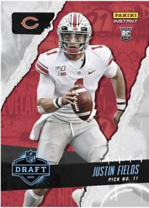 In-Hand 2021 Panini Instant Justin Fields Rookie Draft Night #11 Pick RC +Bonus