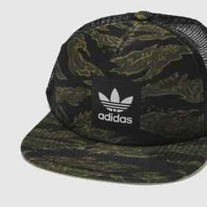953f177e Image is loading Adidas-2019-Originals-Mens-CAMO-Trucker-Cap-Snapback-