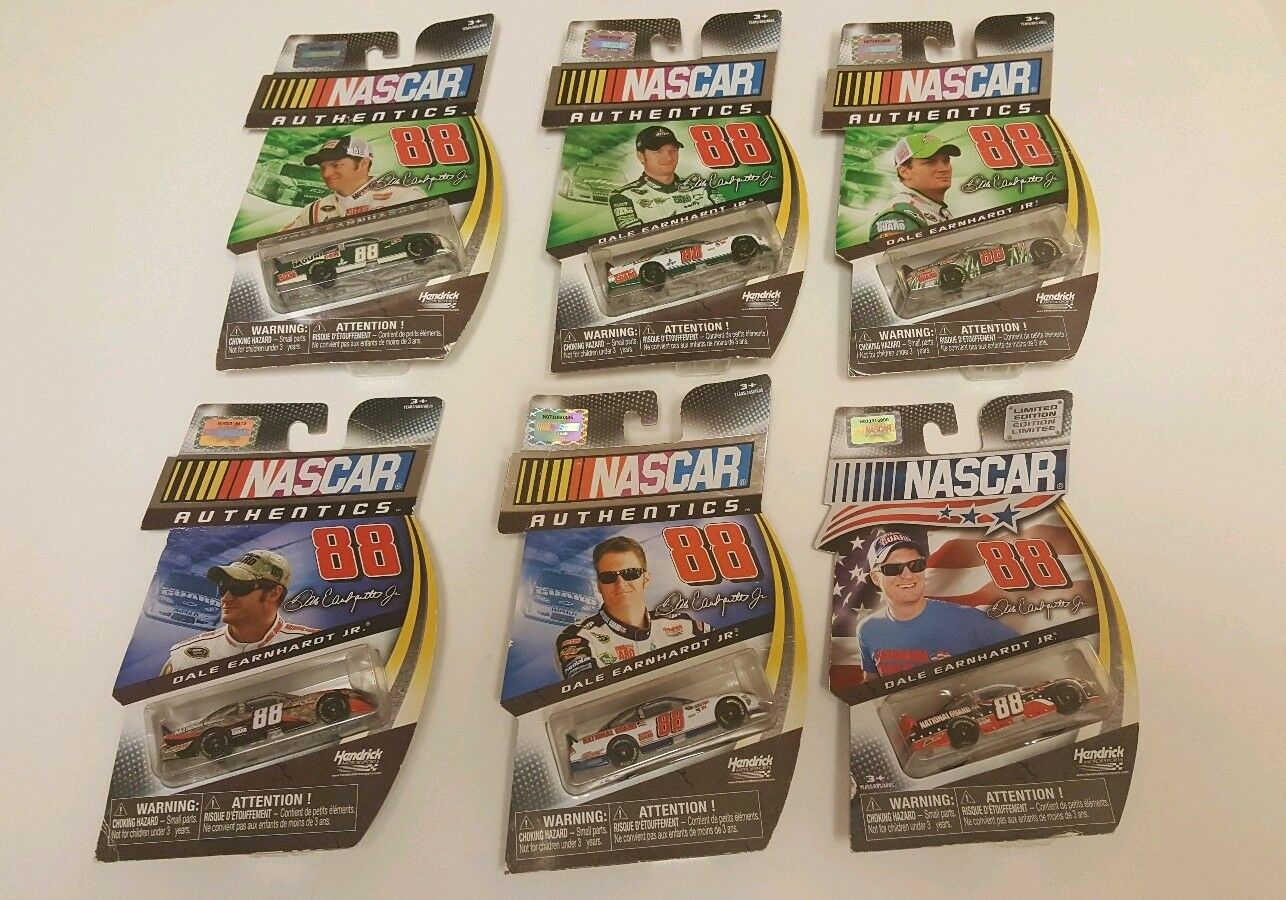 NASCAR AUTHENTICS DALE EARNHARDT JR  (6) CARS 1 64th