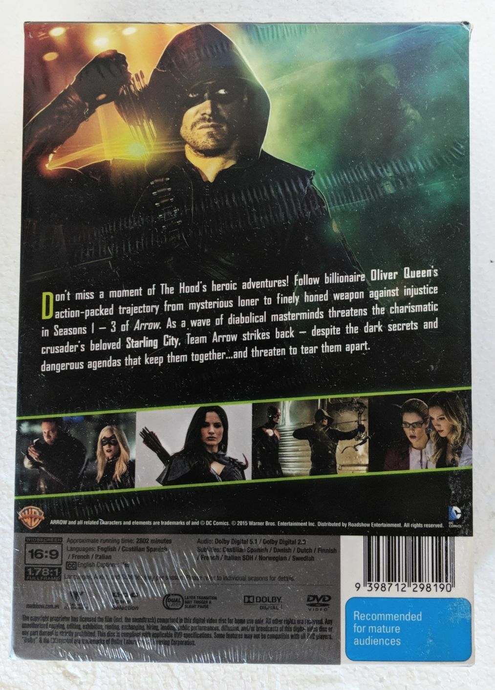Arrow : Season 1-3 (DVD, 2015, 15-Disc Set)