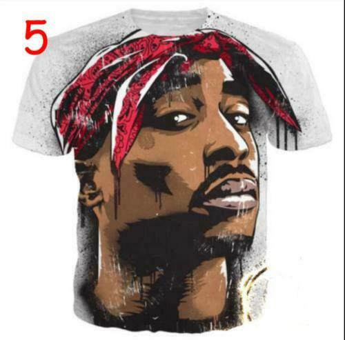 Fashion Womens//Mens Hip Hop 2 Pac Tupac Funny 3D Print Casual T-Shirt Tee 2019