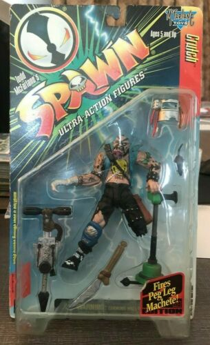 Crutch Spawn Ultra Action Happy Face Shirt Variant Figure McFarlane Toys NEW