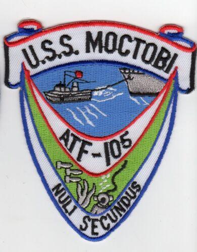USS Moctobi ATF 105 Tug Pulling Ship BC Patch Cat No C5243
