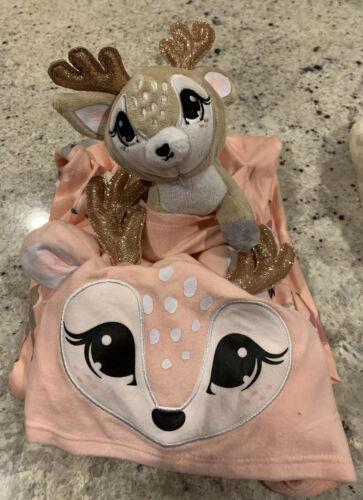 Nwt Girls Justice Deer Pouch One Piece Pajama Sleepwear Size 8 /& Slipper S 2//5