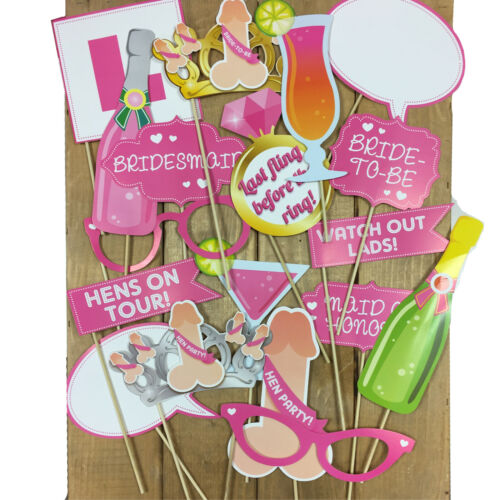 Hen Night Photo Props Team Bride Squad HEN PARTY SELFIE PHOTO BOOTH PROPS