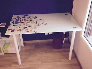 Bureau alinea modèle fanatt plateau en verre trempé ebay