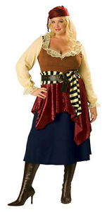 Womens Plus Size Deluxe Buccaneer Beauty Lady Pirate Adult Costume 2XL