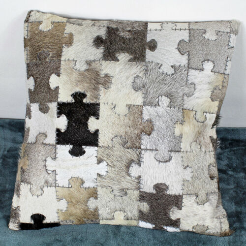 Cowhide Puzzles Cushions Covers By G Decor