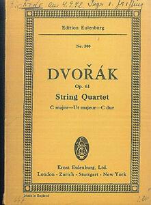DVORAK-String-Quartett-C-Dur-Op-61-Studienpartitur