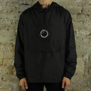 Anorak Coat Pullover Size L Over in Black Nylon Stussy M Jacket Pop fFqIYIw4
