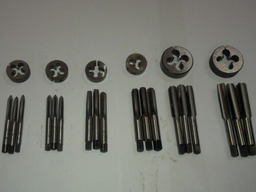 "LEFT HAND 24 PCS SET NEW BSF TAP DIE SET 3//16/"" 1//2/"" BRITISH STANDARD FINE"