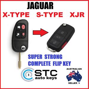 JAGUAR X - TYPE S - TYPE XJR COMPLETE FLIP KEY REMOTE