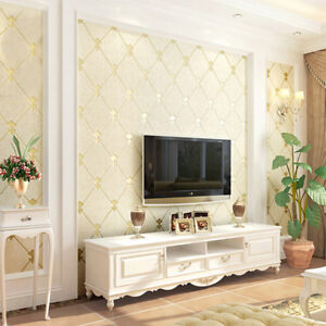 Self-Adhesive-Embossed-Non-woven-Luxury-Wallpaper-Living-Room-Bedroom-Decoration