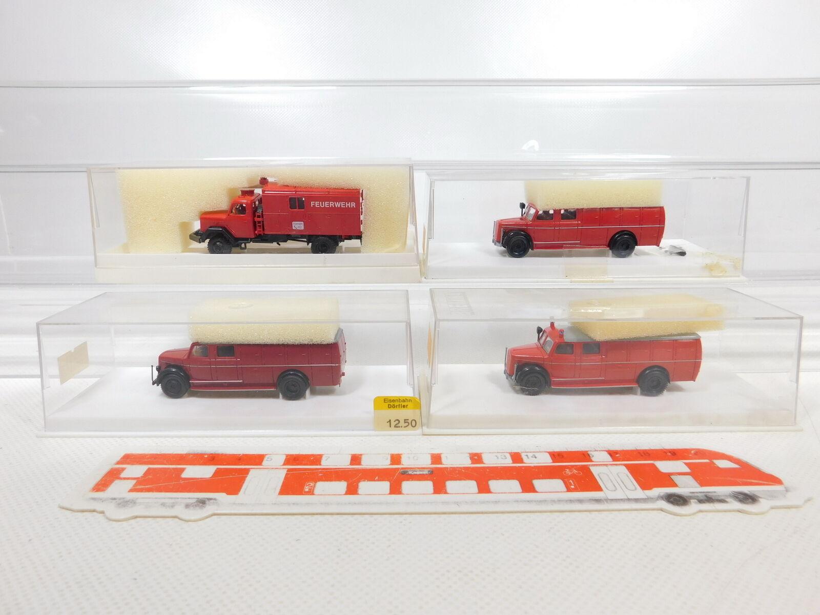 CA3340,5  4x Brekina 1 87H0 Camion Magirus Pompieri 412241204641 , Top