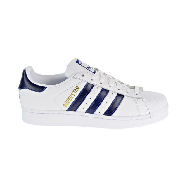 adidas Superstar Mens B41996 White Royal Gold Leather Shell Toe Shoes Size 13