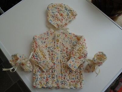 Clothing, Shoes & Accessories New Gorgeous Hand Knitted Baby Set/bundle 3-6 Months Beneficial To Essential Medulla Sweaters