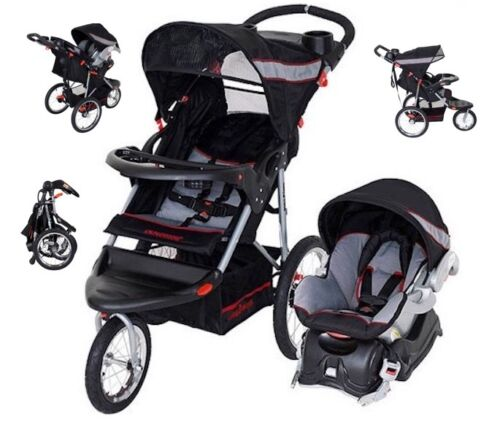 Jogging Stroller Car Seat Combo Baby Trend Walking Run Travel System Carriage