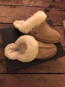 Ugg-Scuffette-II-Chestnut-Slippers-Size-5-UK