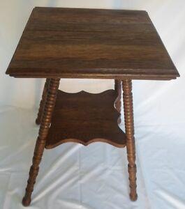 image is loading antique square oak bed side table - Antique Side Tables